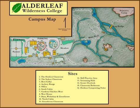 The Alderleaf Wilderness College Campus