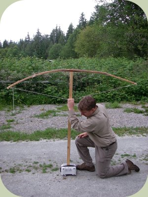 bow making instructions - testing the draw weight