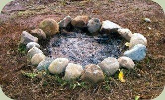 building a fire pit