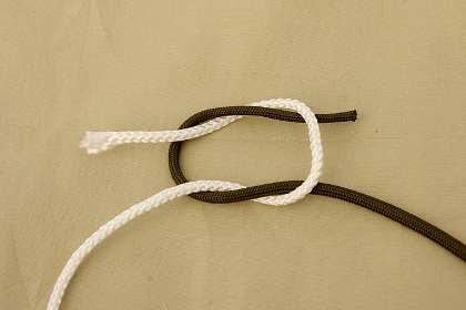 camping knots square knot 3