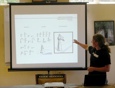 Alderleaf Graduate Jaime presenting on graphic design