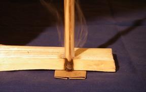 handdrill spindle making smoke