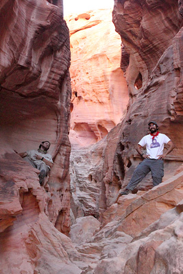 sandstone canyon cleft