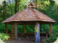 Alderleaf cedar hut outdoor classroom