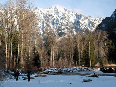 winter in the eastern Cascade mountains