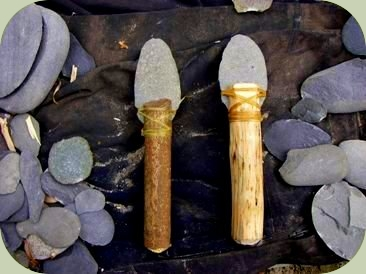 primitive stone tools photo