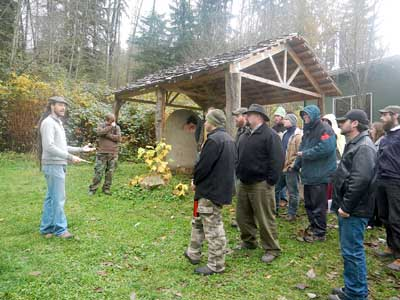 permaculture lecture in the outdoors
