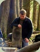 Jason teaching at Wilderness Awareness School