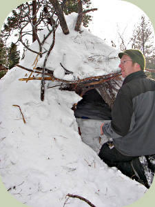 JC with winter shelter