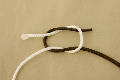 camping knots square knot
