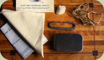 flint and steel primitive fire making kit