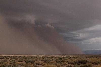 Sandstorm at White Sands