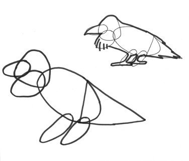 how to draw bird shapes