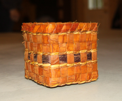 completed cedar basket