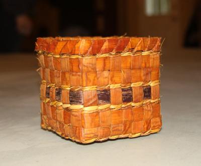 completed cedar basket