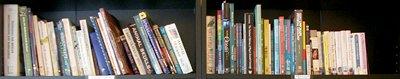 wilderness survival book shelf