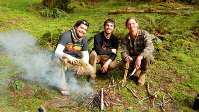 Enjoying a friction made fire